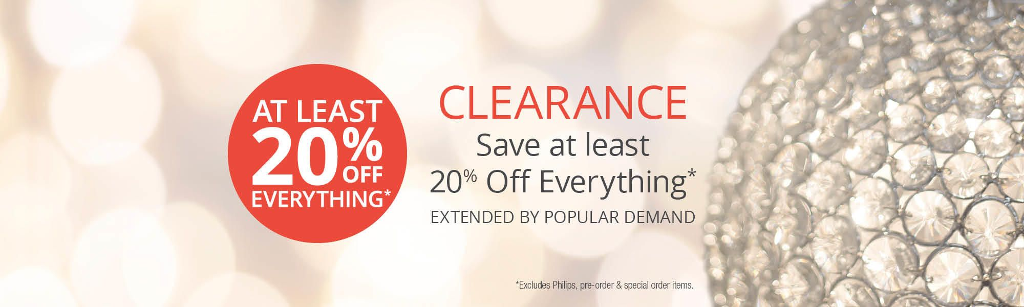 Get an at least 30% off everything!* Excludes Philips, pre-order and special order items