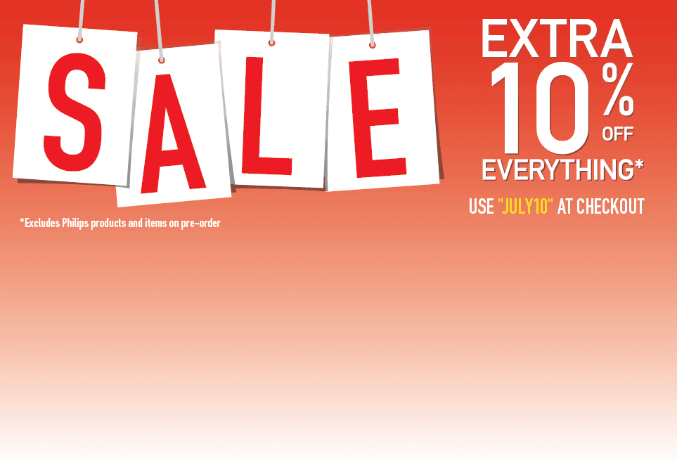 Extra 10% Off Everything! Excludes Philips Products and items on pre-order. Use JULY20 at Checkout