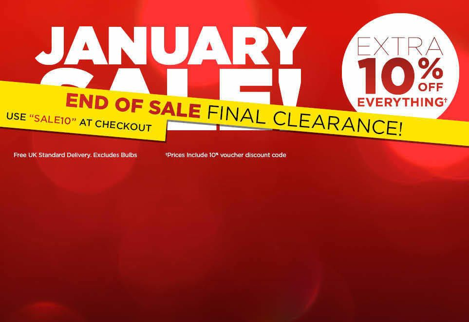 JANUARY SALE - FINAL CLEARANCE - EXTRA 10% OFF EVERYTHING - USE