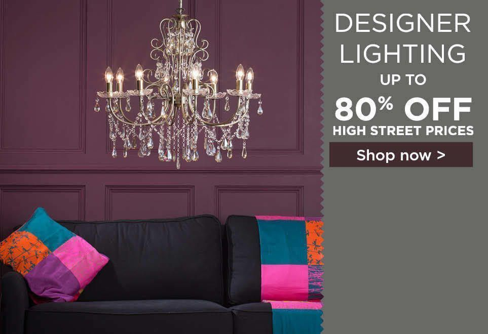 Designer Lighting. Up to 80% off High Street Pricing