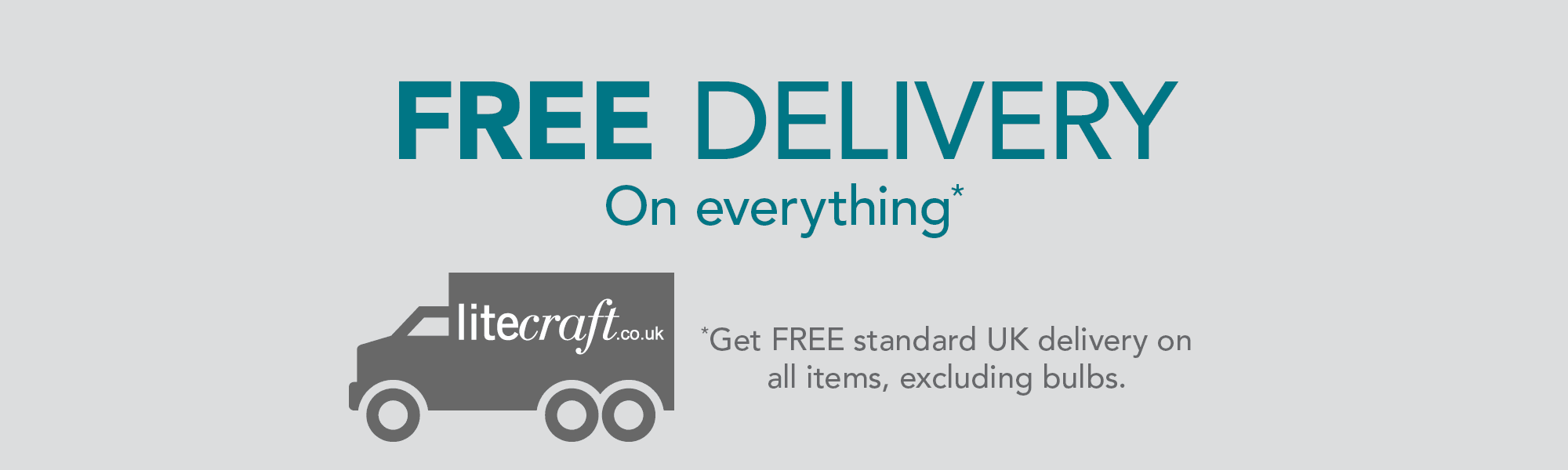 FREE Standard UK Delivery on All Items. Excluding Bulbs