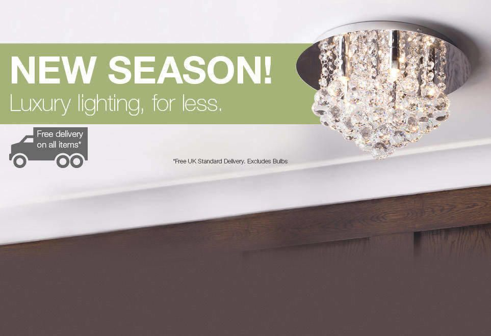 New Season! Luxury lighting, for less.