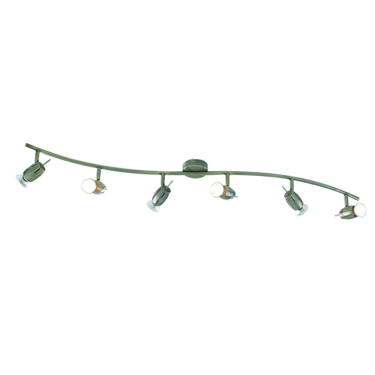 Frank Antique Brass 6 Light Spotlight Bar