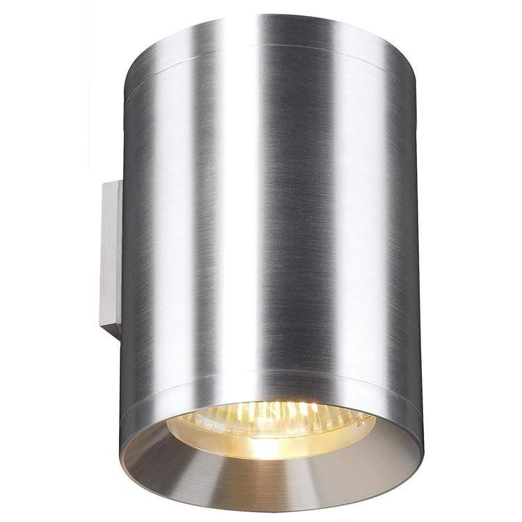 Rox 2 x 50w Up and Down Wall Light in Natural Aluminium