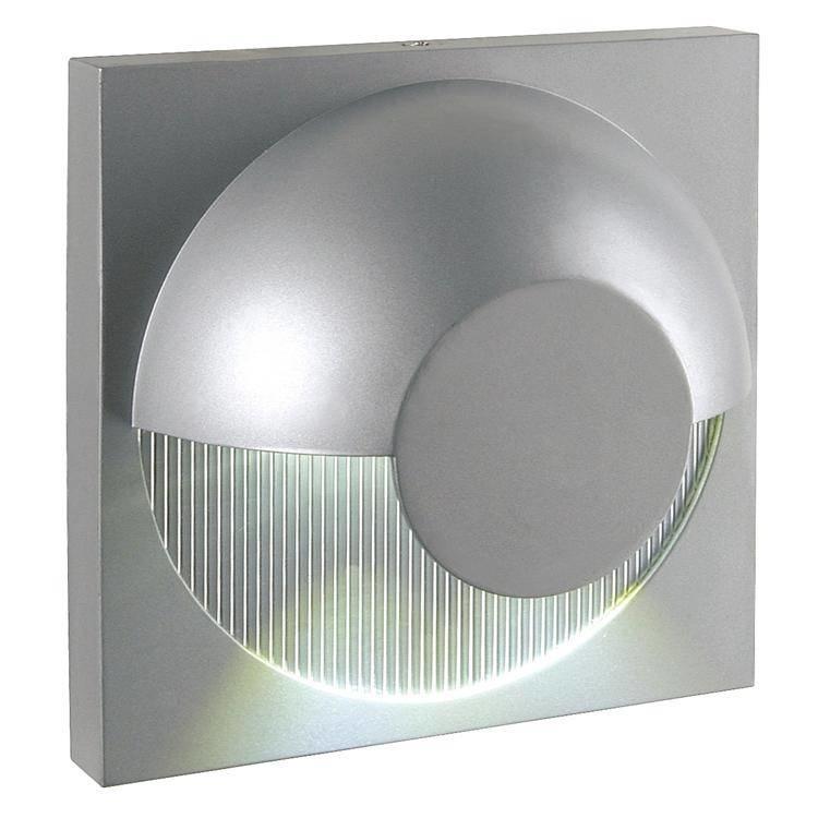 Dacu 2 x 1w White LED Outdoor Wall Light in Aluminium