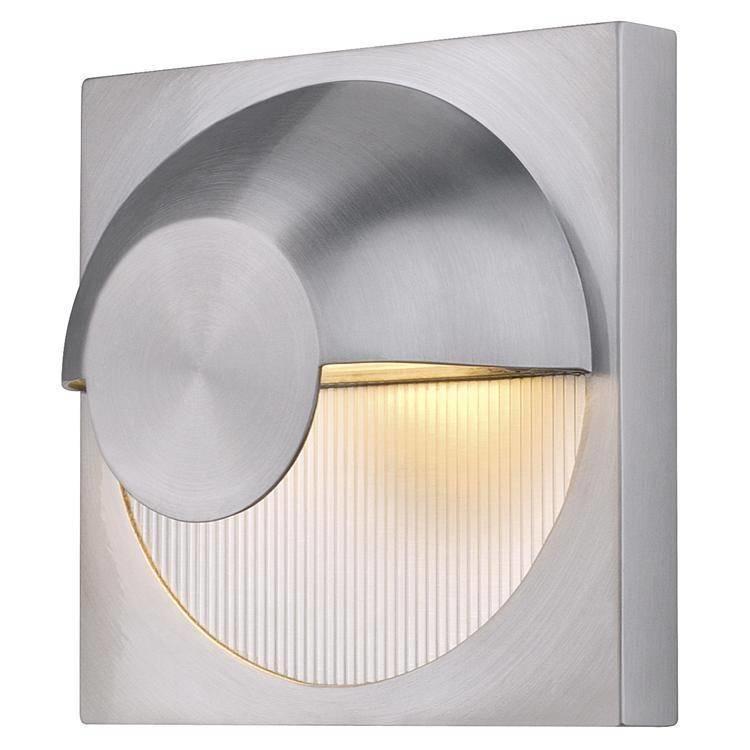 Dacu 40w G9 Outdoor Halogen Wall Light in Brushed Aluminium