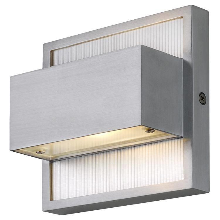 Dacu 40w Up and Down Outdoor Wall Light in Brushed Aluminium