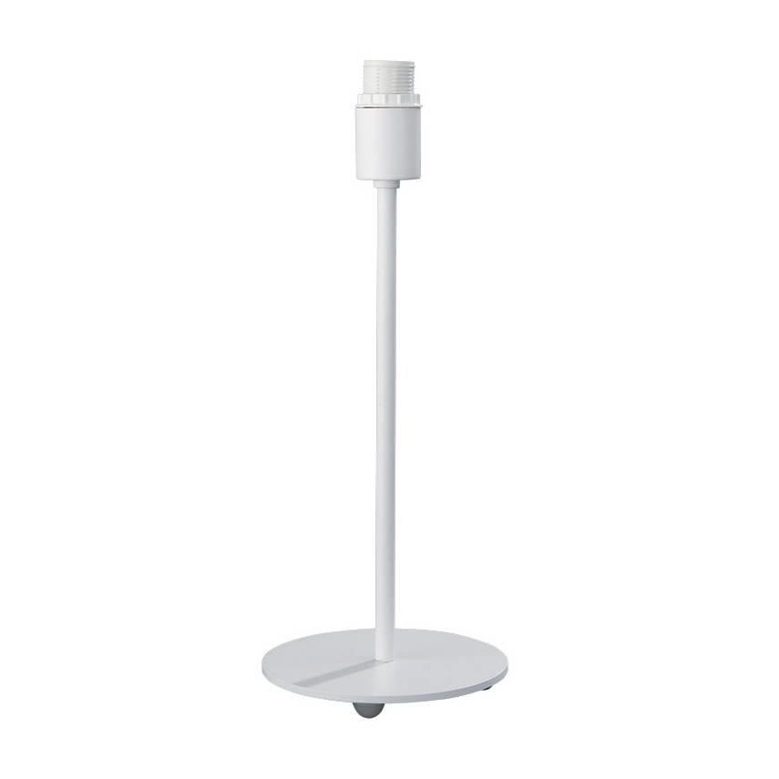 Round Base Small Table Lamp  White