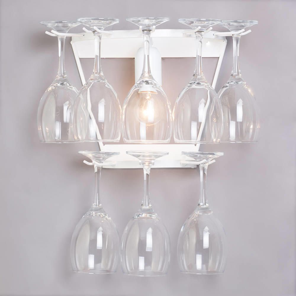 Wine Glass Decorative Wall Light - White from Litecraft