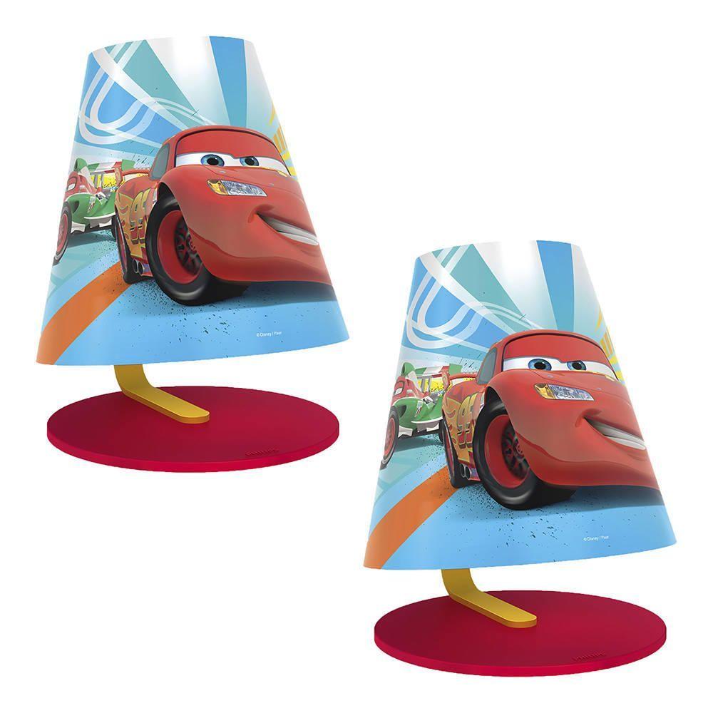 Philips Pack of 2 Disneys Cars Childrens LED Table Lamp