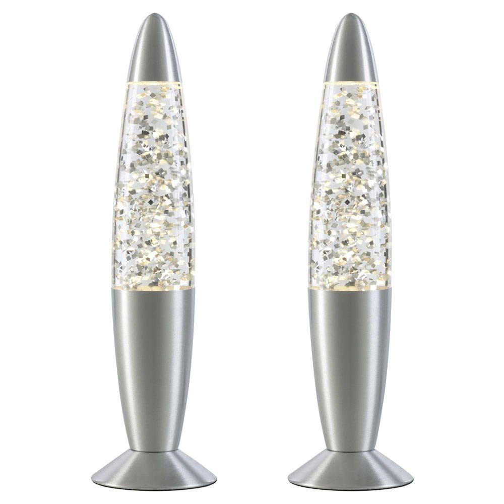 2 Pack Lava Lamp  Silver Glitter