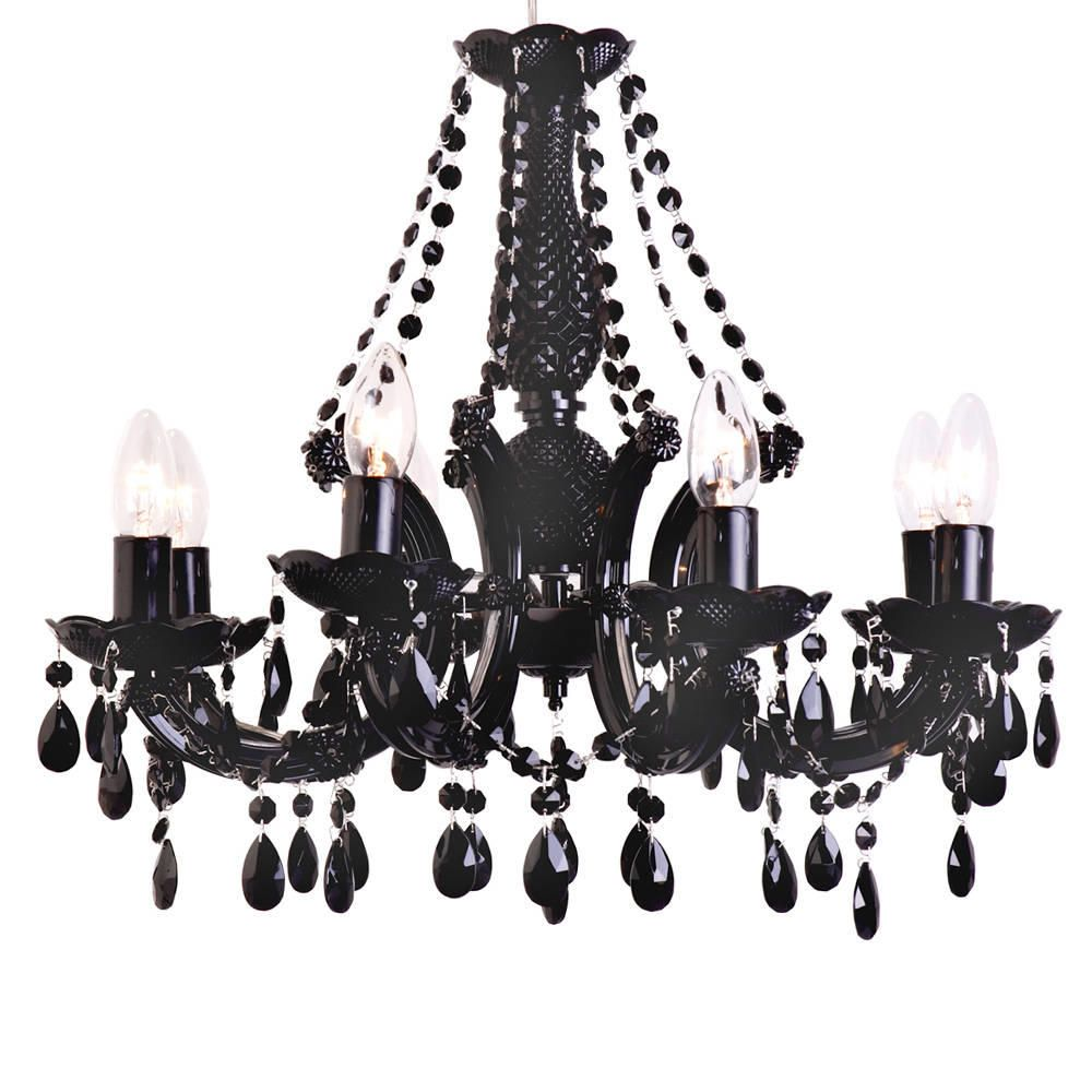Marie Therese 8 Light Chandelier  Black