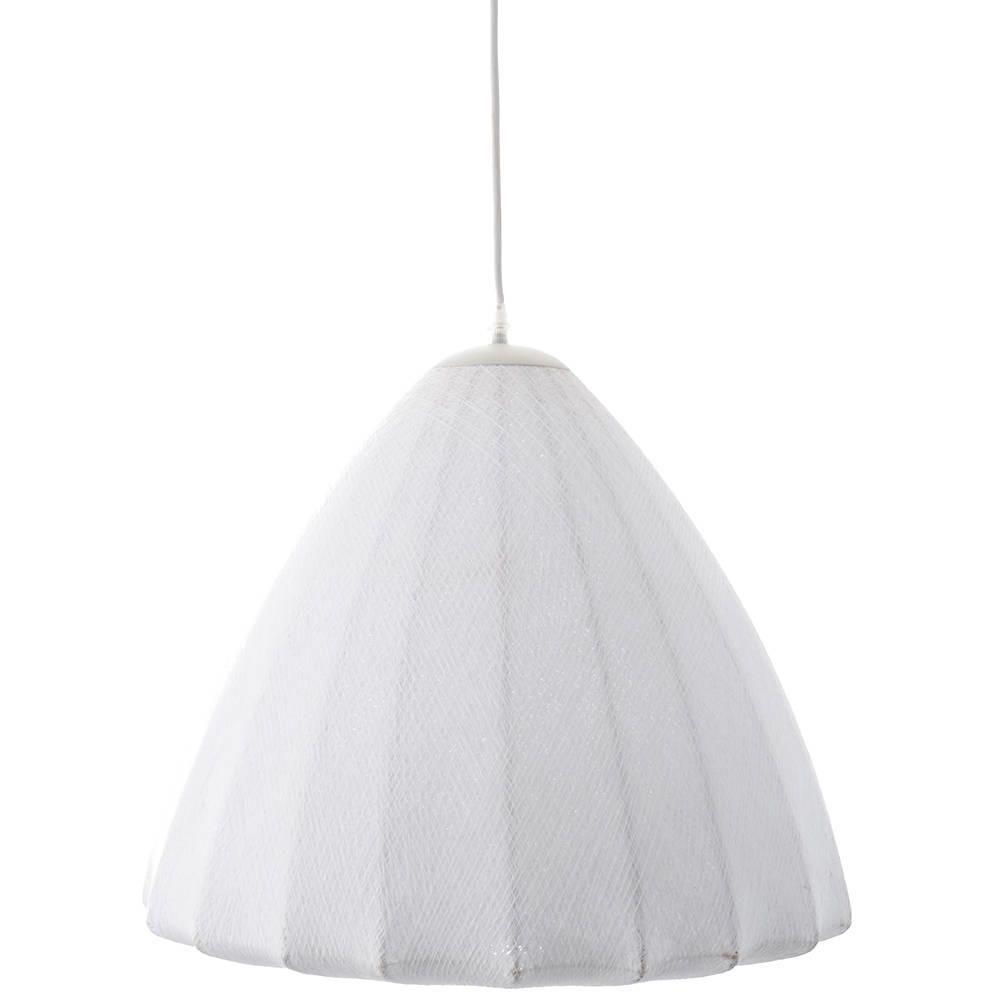 Lunar Fabric 1 Light Ceiling Pendant - White