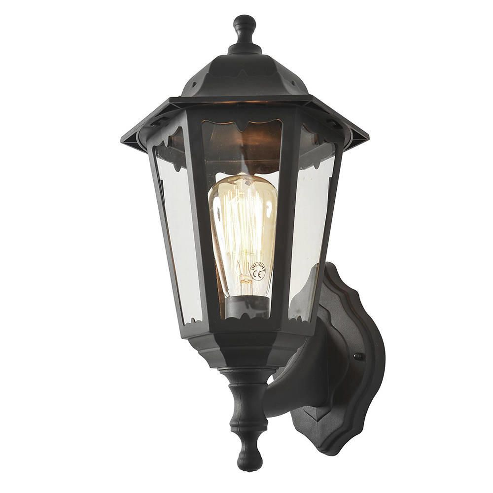 neri outdoor polycarbonate wall lantern black from litecraft. Black Bedroom Furniture Sets. Home Design Ideas
