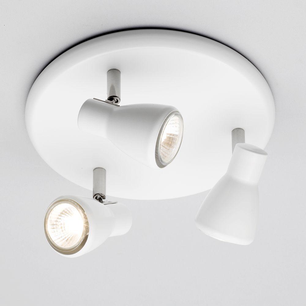 3 Way Spotlight Plate Modern /& Wall Spotlight Litecraft White 2//4 Way Spotlight
