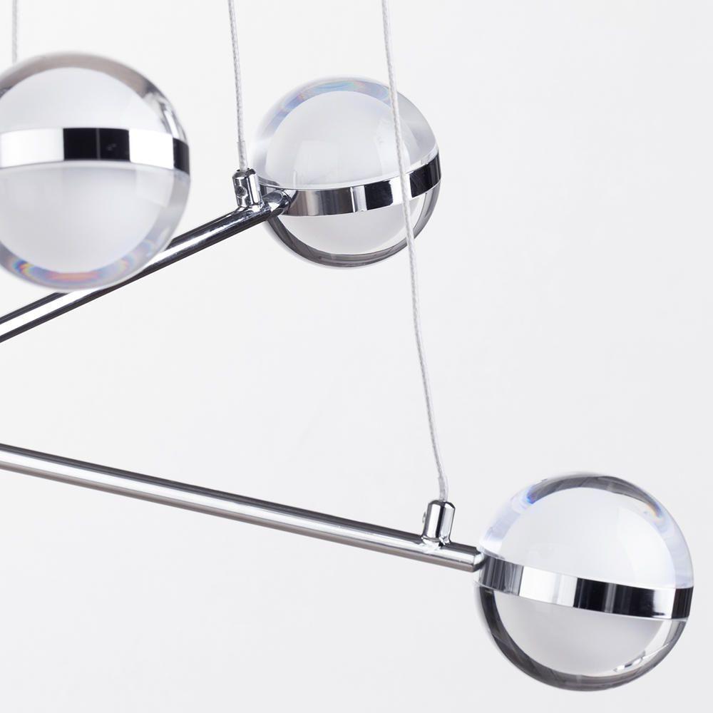 Chrome ball ceiling lights : Light led glass ball bar ceiling pendant chrome from