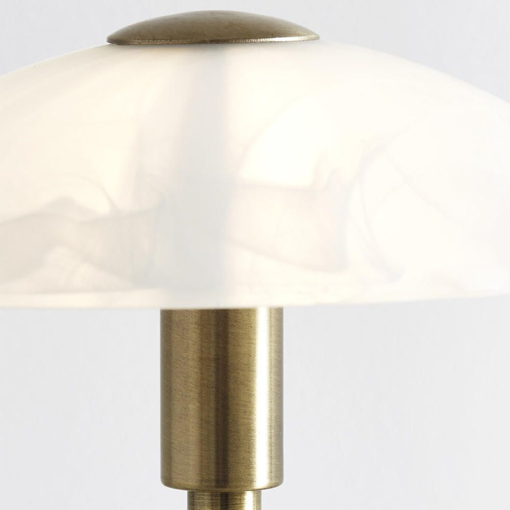 home 1 light table touch lamp with alabaster glass dome shade. Black Bedroom Furniture Sets. Home Design Ideas