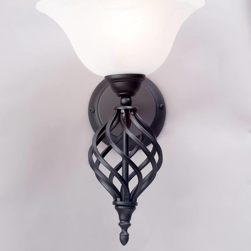 Wall Lights Litecraft : Spiral Wall Light - Black from Litecraft