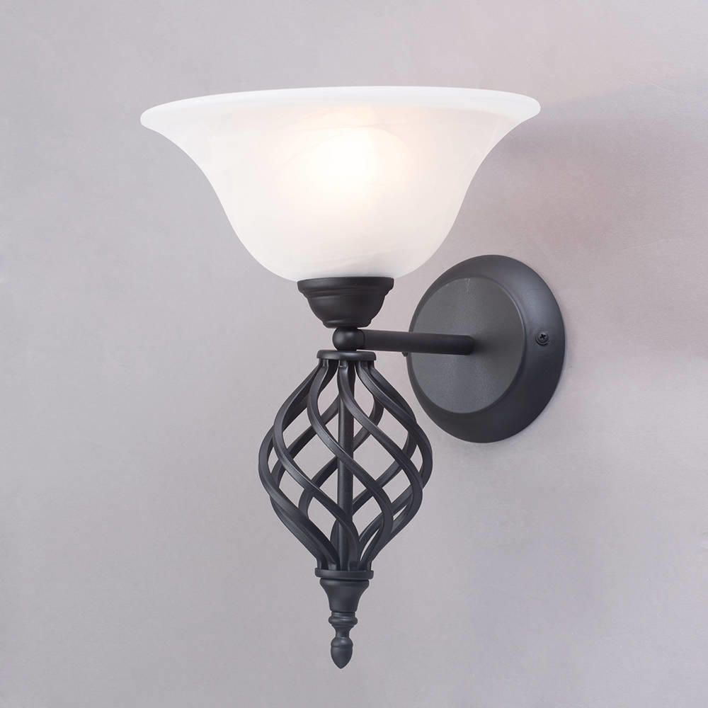 Spiral wall light black from litecraft for Victorian style interior wall lights