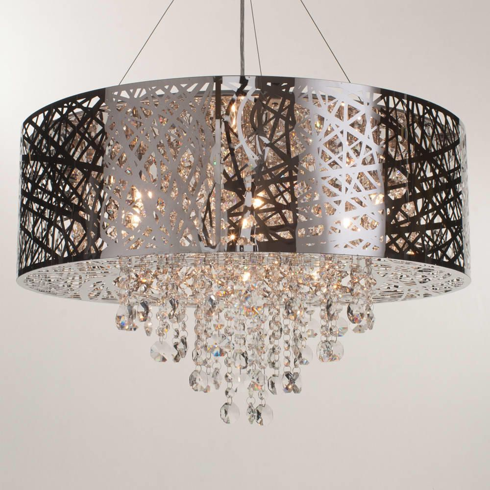 Ceiling Lamp Shade Doesn T Fit: Ashley Pendant Ceiling Light Dual Mount Drum 9 Bulb