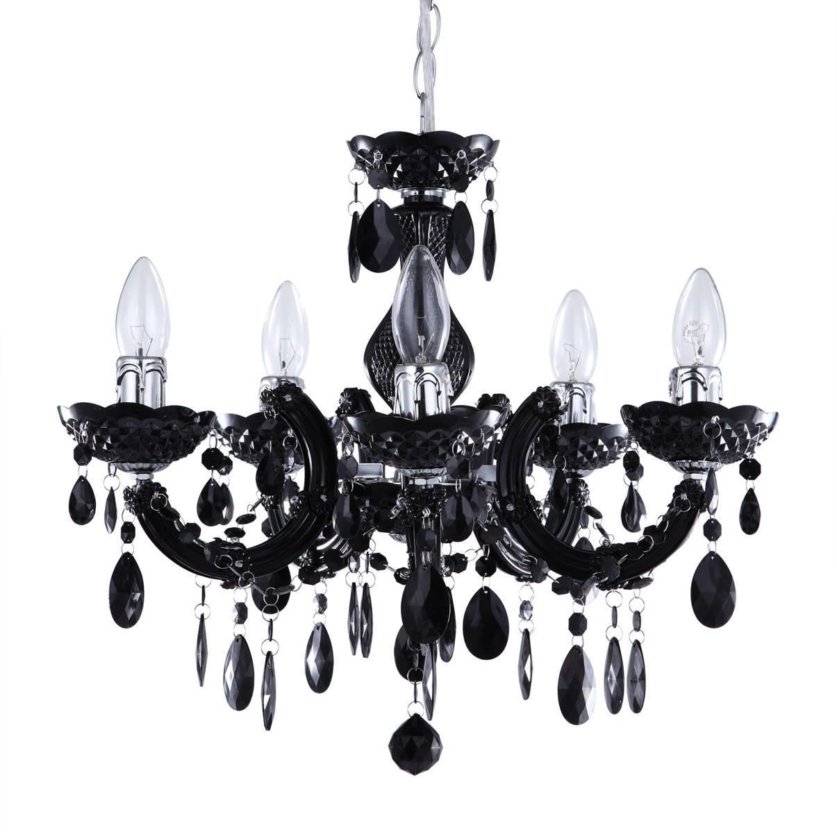 Marie Therese 5 Light Dual Mount Chandelier  Black