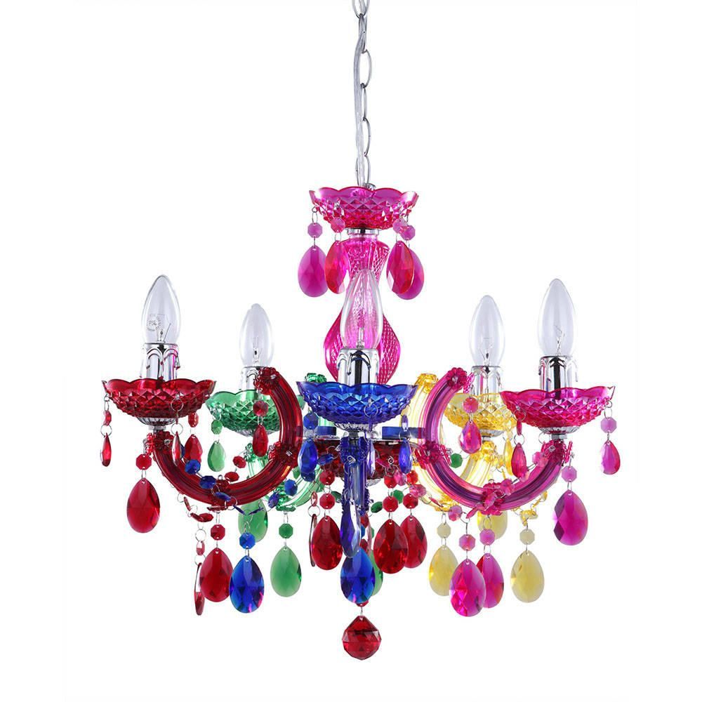 Marie Therese 5 Light Dual Mount Chandelier  Multicoloured