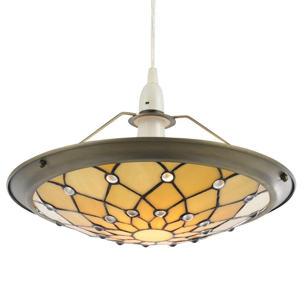 Tiffany Jewel Easy to Fit Ceiling Uplighter Shade - Honey