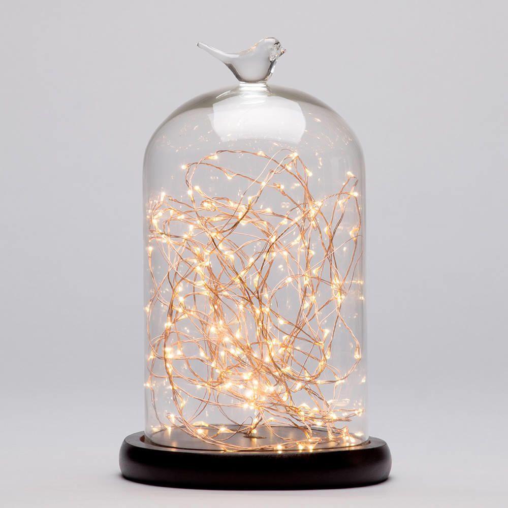 Bell Jar Table Light Dark Wood Amp Copper From Litecraft