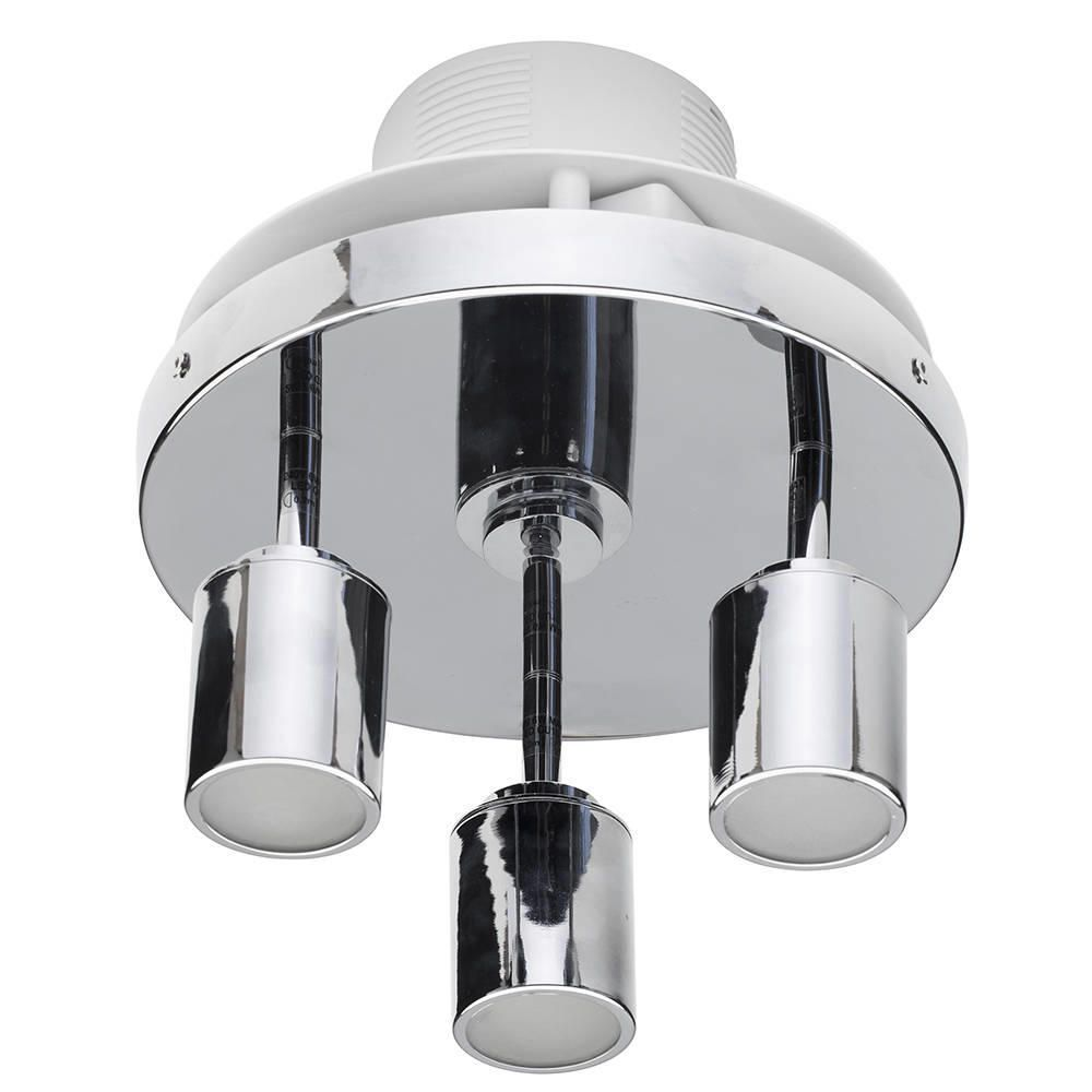 3 Light Bathroom Ceiling Spotlight Plate with Extractor Fan