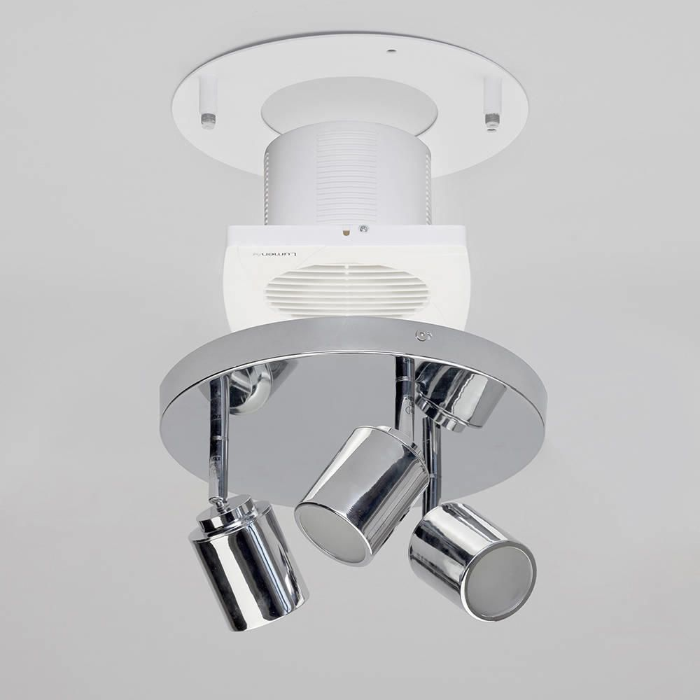 Elegant Bathroom Ceiling With Led Down Lighting And Ceiling Extractor Fan