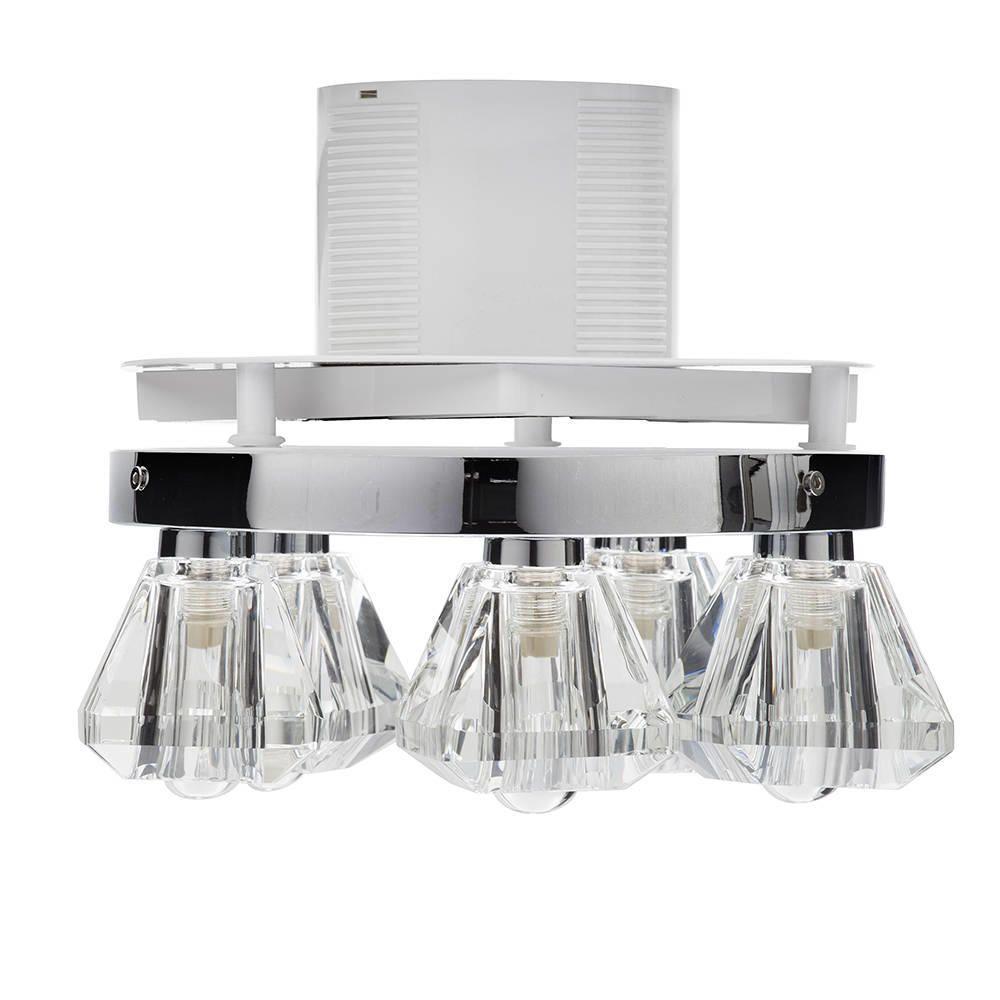 5 Light Bathroom Ceiling Spotlight W/ Extractor Fan