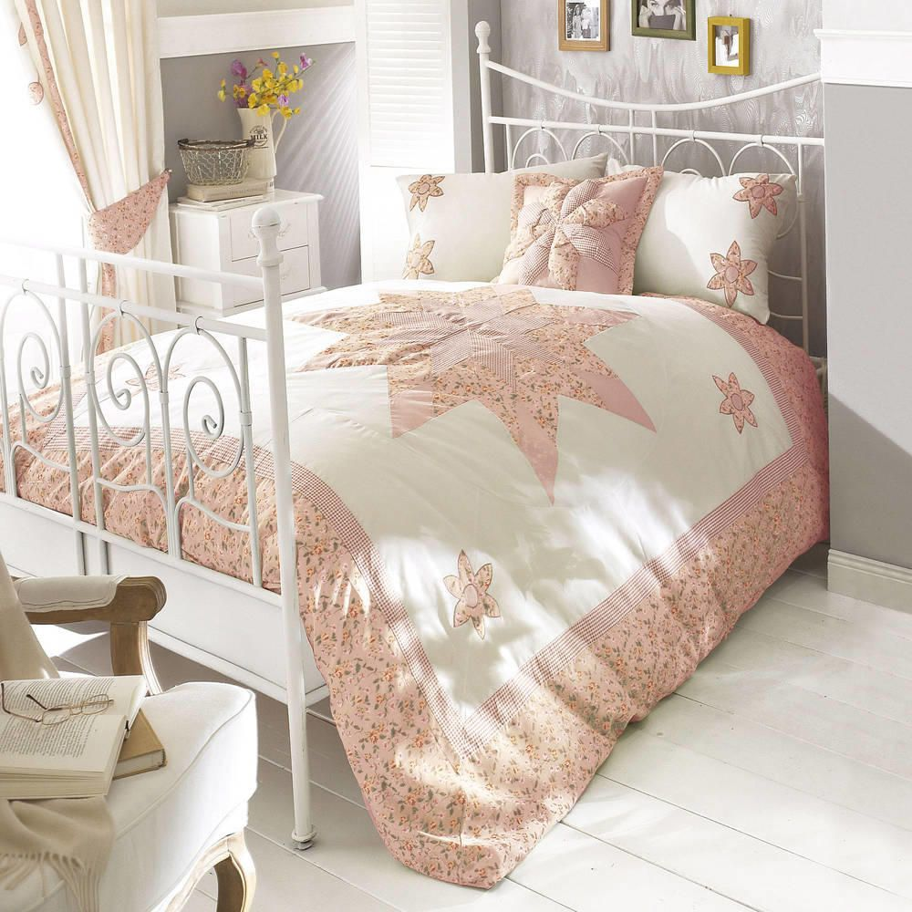 Alicia Double Duvet Cover Set Pink