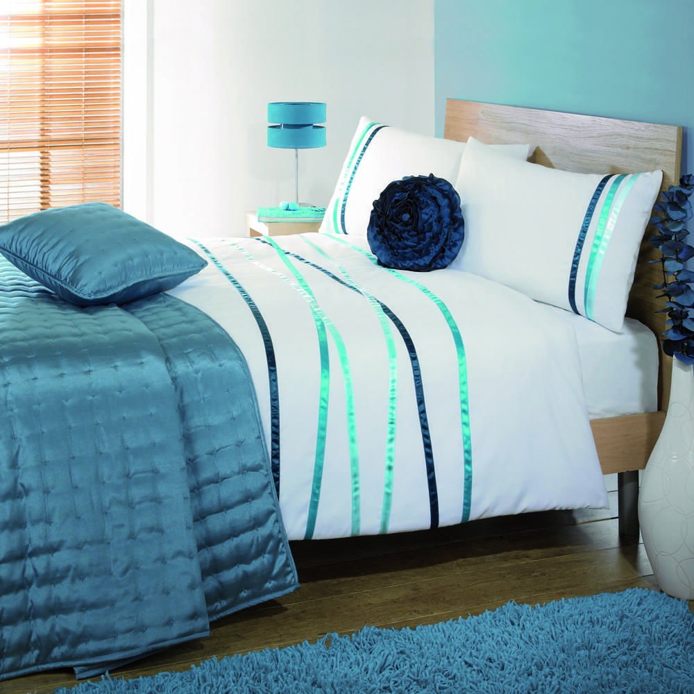 Crossover Double Duvet Cover Set Teal
