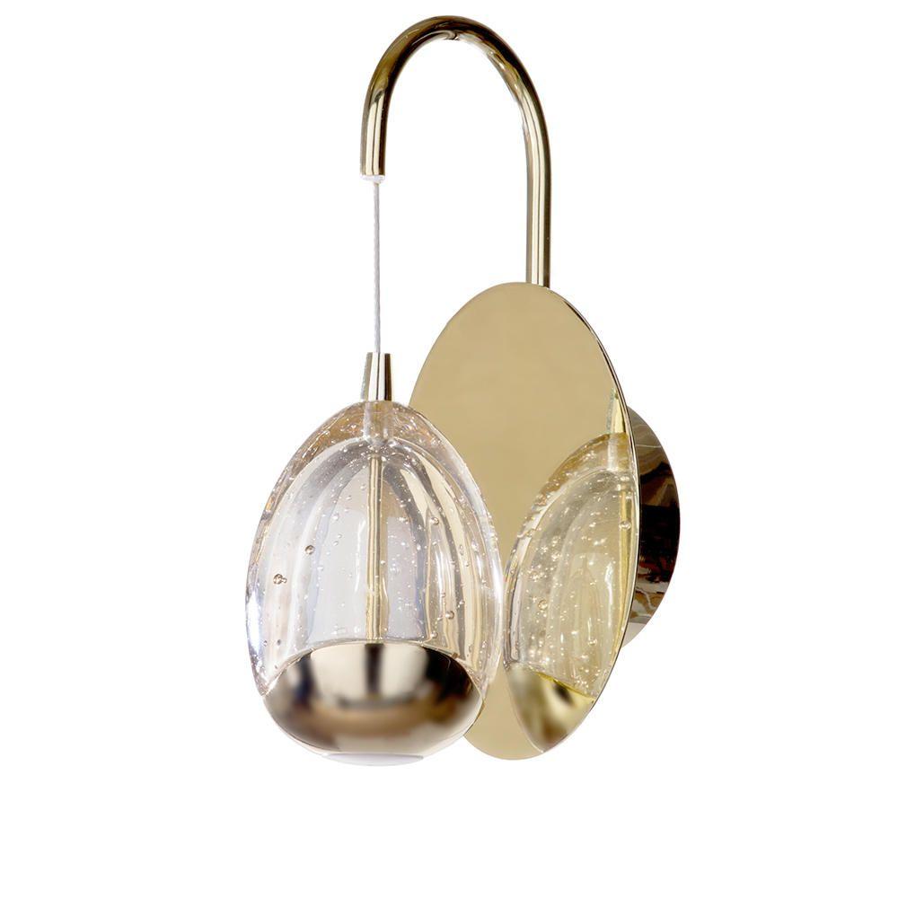 Tegg 1 Light LED Water Drop Wall Pendant - Gold