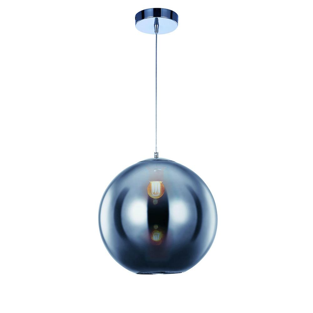 Small Oberon 1 Light Ceiling Pendant - Chrome
