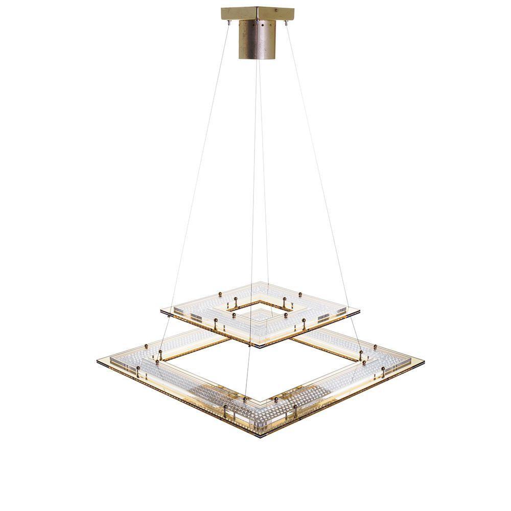 dubai square ceiling pendant 1 light gold lighting