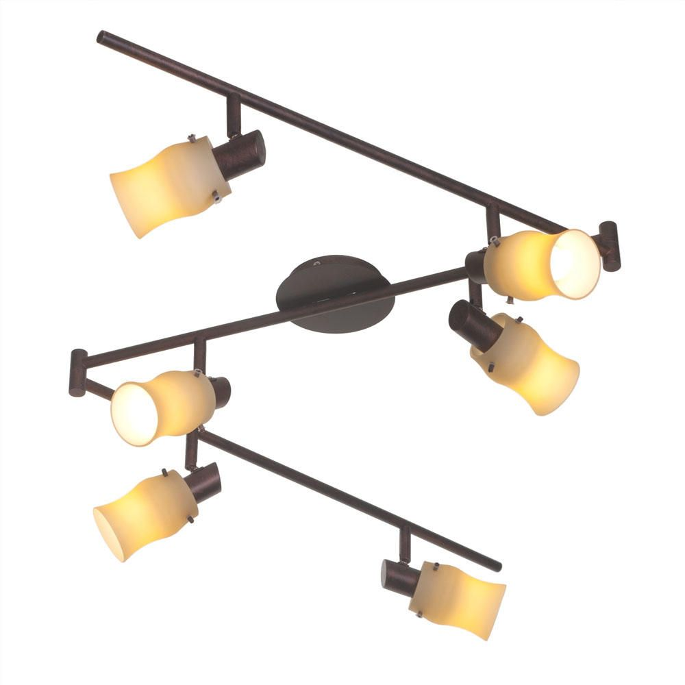 Whirl 6 Light Spotlight Bar  Antique Brass