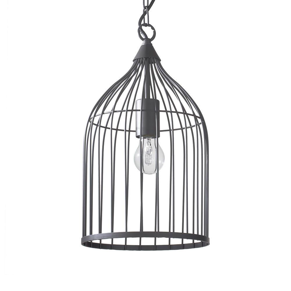 Litecraft Haddon 1 Light Cage Pendant - Brown