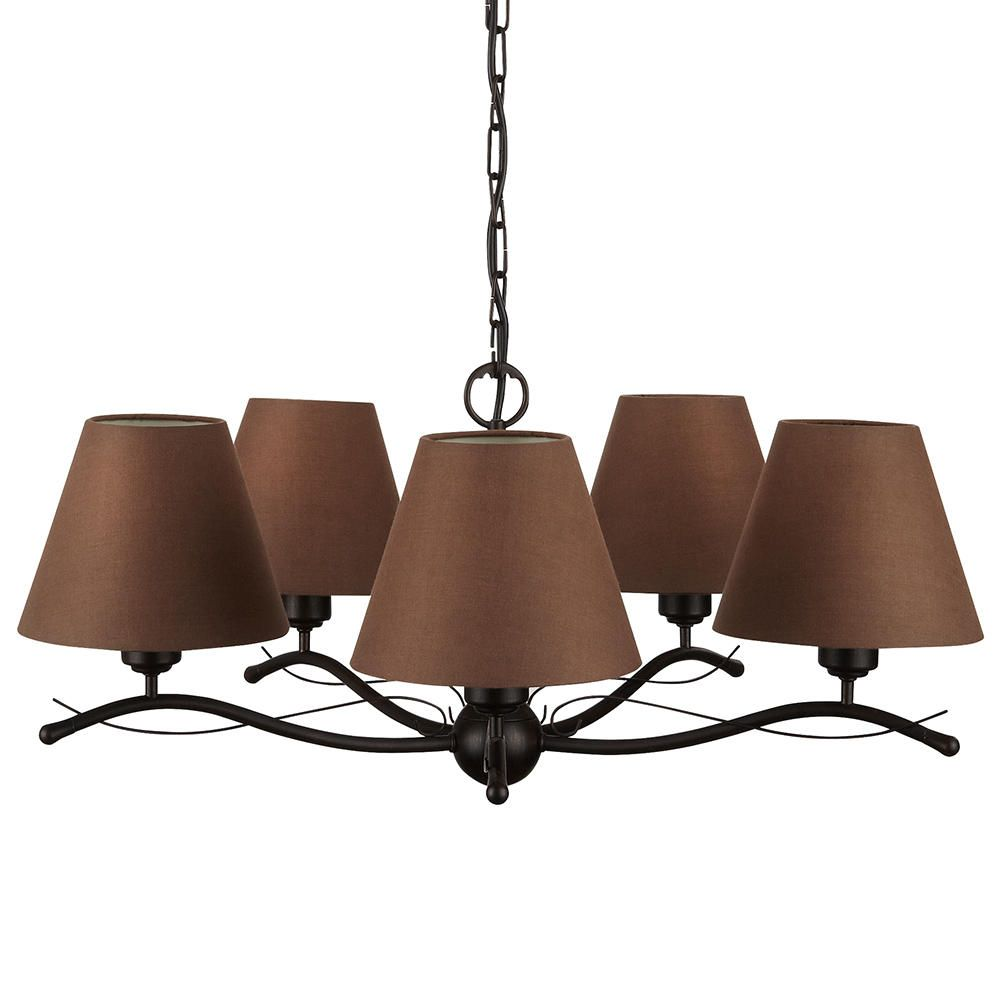 philips elmore pendant ceiling 5 light with shades myliving brown
