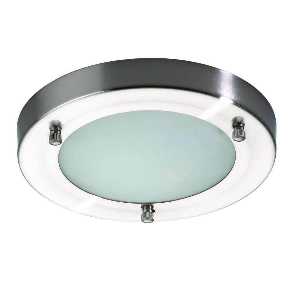 Mari Flush Bathroom Light Stainless Steel From Litecraft
