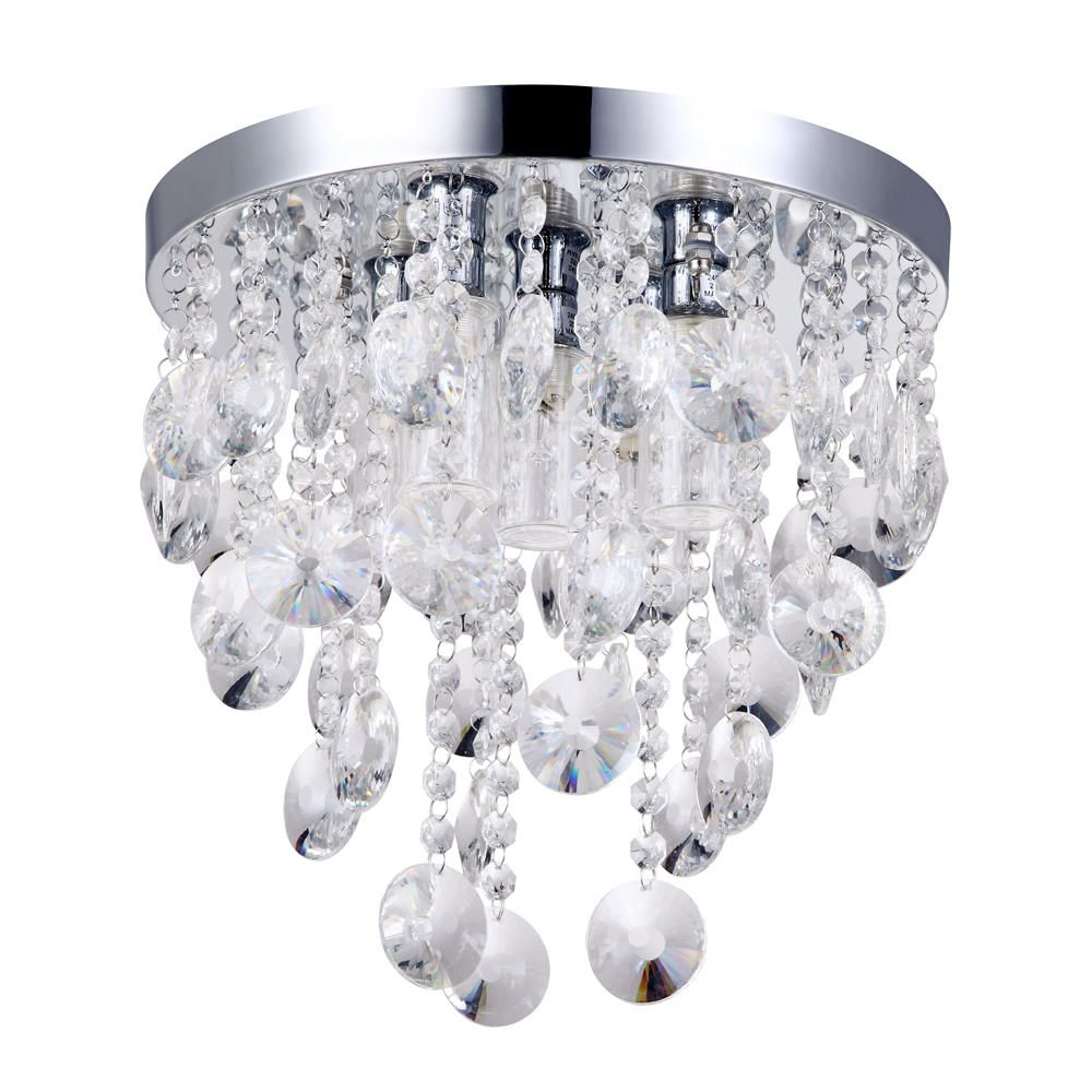 Elisa 5 Light Crystal Effect Bathroom Ceiling Light From