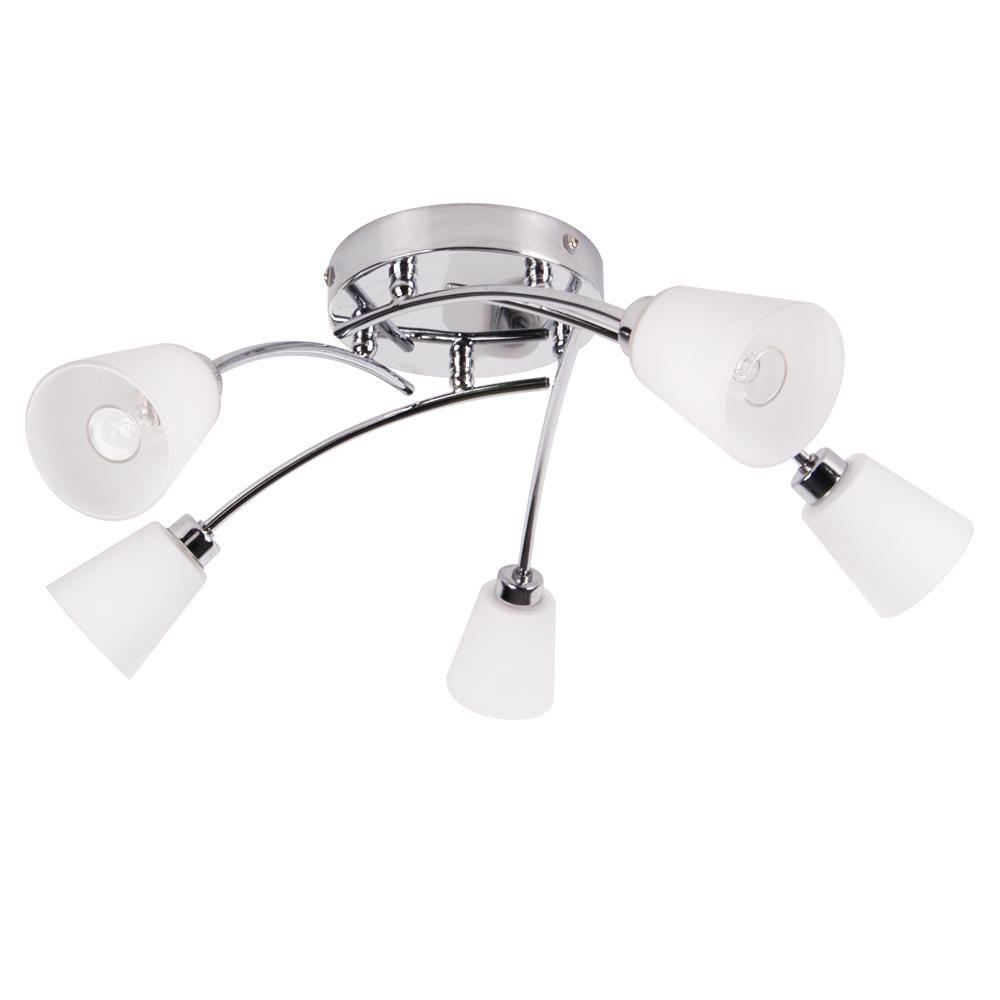 Marche Bathroom Ceiling 5 Light - Satin Nickel