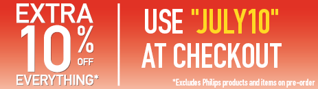 Extra 10% Off Everything! Excludes Philips Products & Pre-order Items. Use JULY10 at Checkout.
