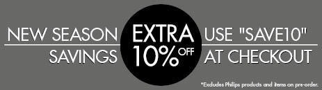 Extra 10% Off Everything! Excludes Philips Products. Use SAVE10 at Checkout