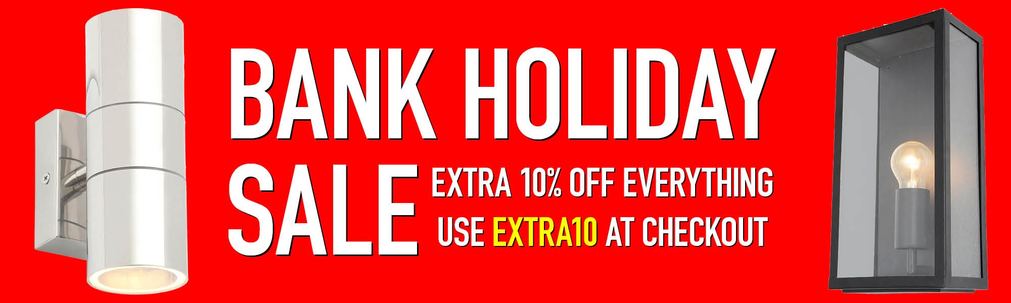 Bank Holiday Sale - Use EXTRA10 at checkout to save 10% off Everything