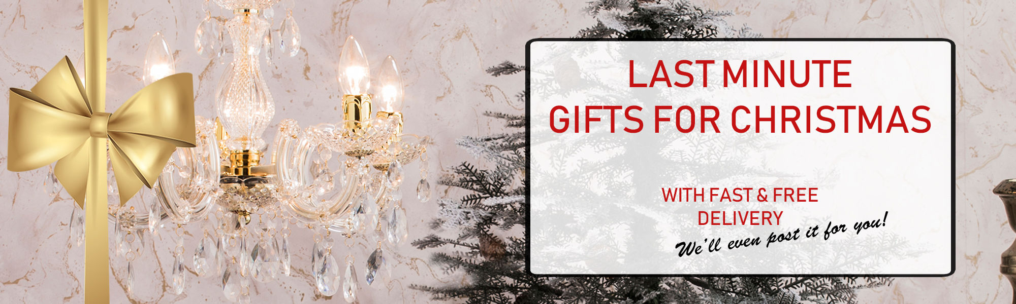 Last Minute Gifts For Christmas With Fast & Free Delivery
