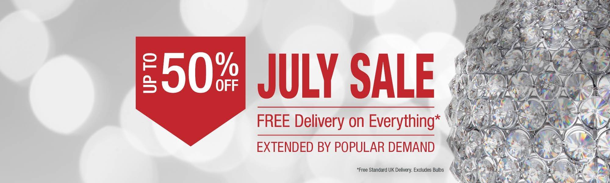 July Sale - Up To 50% Off