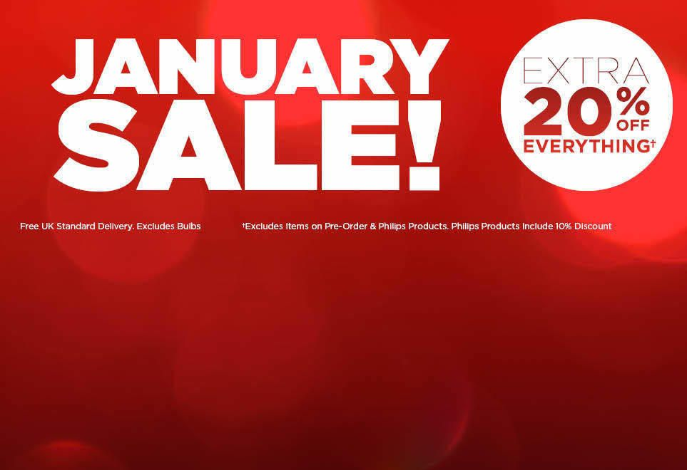 JANUARY SALE - EXTRA 20% OFF EVERYTHING - Excludes items on pre-order and Philips products