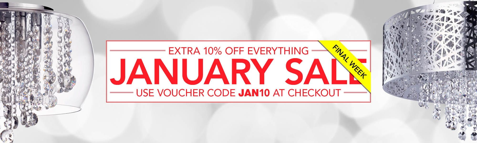 Final Week of the January Sale - Use JAN10 at Checkout