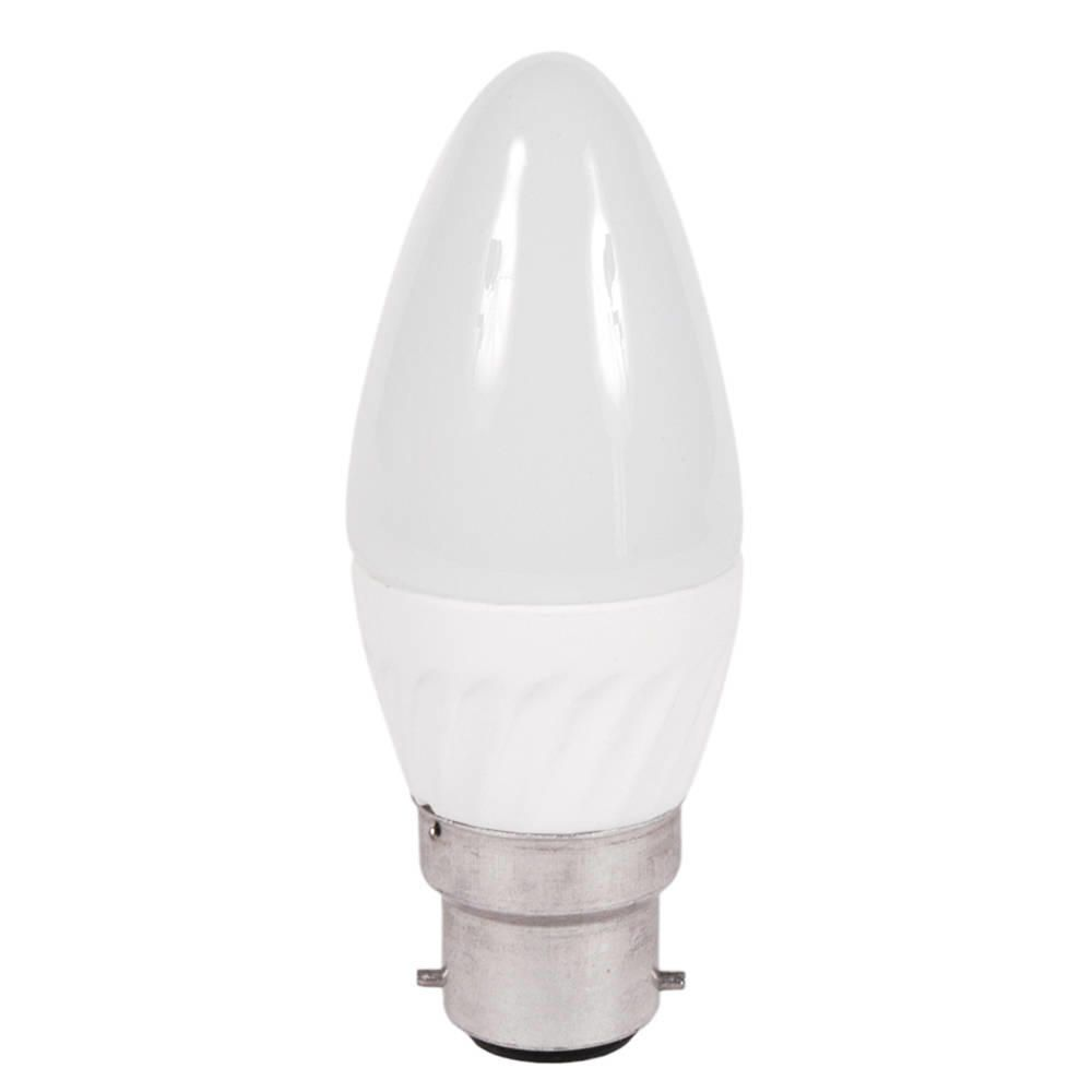 3 Watt B22 Bayonet Cap LED Candle Light Bulb  Cool White